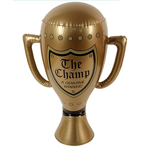 pielzeug Trophäe Simulation Wettbewerb Champion Trophäe kreative Kinder Kinder Geschenk für Party Supplies, Weihnachten Wohnkultur (Golden) ()