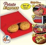 Set de 2 microondas olla express bolsa bolsa de papa - Papa, perfecto patatas sólo en 4 minutos - rojo
