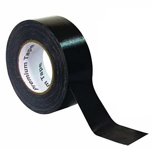 "Premium Tape DUCT-190 50m x 50mm schwarz \""Ultra Strong\"" Profi Gewebeklebeband Steinband Duct Tape Gaffa Gaffer Tape Panzertape Panzerband"