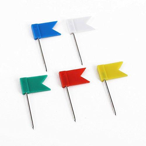 CLE DE TOUS - Chincheta Tachuelas de cabeza forma bandera Chinchetas marcadoras 100pcs