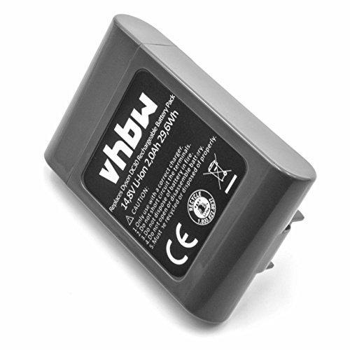 vhbw Li-Ion batería 2000mAh (14.8V) para aspiradora Robot autónomo de Limpieza Dyson DC30
