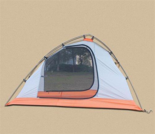 MLveen tenda di campeggio esterna del palo di alluminio stagioni unico castello equitazione ultraleggero impermeabile ( colore : Gray , Peso : 2.25kg )