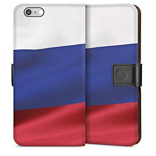 Apple iPhone 5s Housse étui coque protection Russie Drapeau Russia Sideflip Sac
