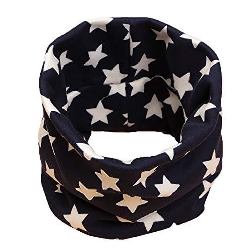 Boomly unisex inverno morbida e calda cartoni bavaglino per bambini neonati plus in velluto addensare scaldacollo sciarpa in cotone (blu navy#1)