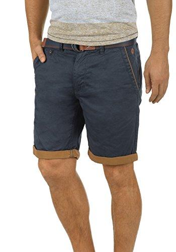 Blend Neji Herren Chino Shorts Bermuda Kurze Hose mit Gürtel aus 100% Baumwolle Regular Fit, Größe:L, Farbe:India Ink (70151)
