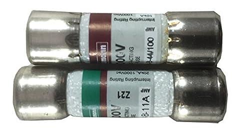 Combo pack: 1 piece DMM-11A (DMM11) and 1 piece DMM-44/100 (DMM 44 100) Digital multimeter replacement Fuse (Fluke) by Fluke/Bussmann