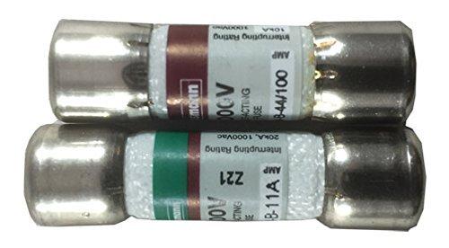 Combo Pack: 1pieza (DMM-11A, DMM11) y 1pieza dmm-44/100(DMM 44100Fusible De Repuesto–Multímetro digital (FLUKE)