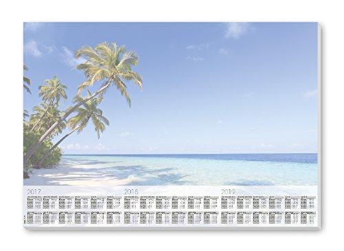 Sigel HO470 Papier-Schreibunterlage mit 3-Jahres-Kalender, 59,5 x 41 cm, 30 Blatt