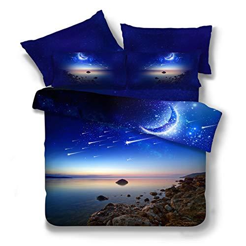Anyer Galaxy Tröster Setzen Voll, Sky Oil Druck Außenraum Umkehrbare Quilt-Betten-Set,G - Clearance Sets Twin Tröster