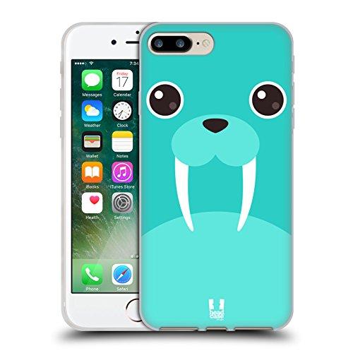 Head Case Designs Gatto Nero E Rosa Gatti A Pois Cover Morbida In Gel Per Apple iPhone 7 Plus / 8 Plus Tricheco