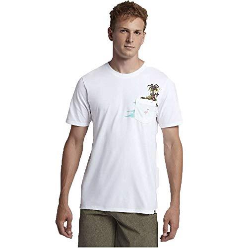 Hurley Men's AJ1773 Premium Flamingo Pocket T-Shirt - Hurley-t-shirt Pocket