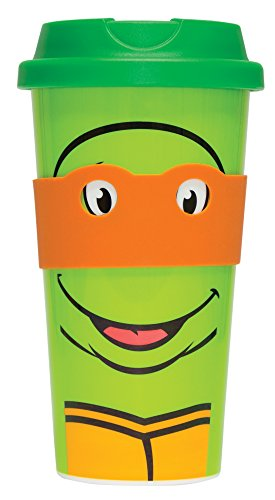 Unbekannt Teenage Mutant Ninja Turtles Reise Tasse orange (Michelangelo)