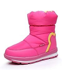 bb949c06b223f Unisexe Enfants Bottes De Neige Filles Garçons Hiver Imperméable Bottes De  Laine Chaude Enfants Non-Slip School Mode Bottes Mi-Mollet…