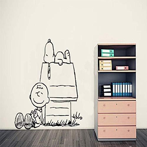 Charlie Brown Peanut Wandkunst Aufkleber Baby Wandtattoos Wandbild Wandaufkleber Nersery Home Decor Wallpaper 89x94cm