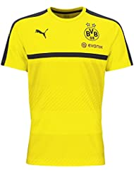 Puma BVB – Camiseta para hombre Training Jersey with Sponsor, Cyber Yellow de Black, 3 x l, 749845 01