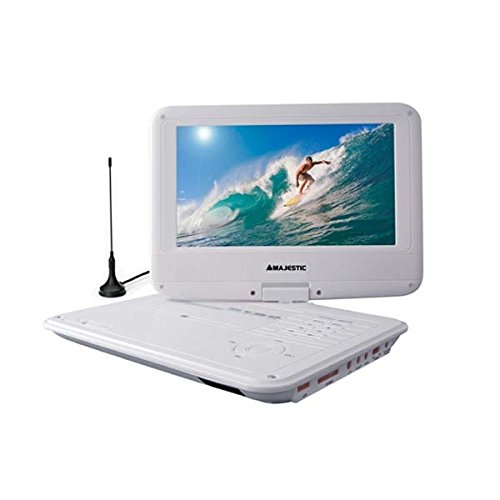 Majestic DVX 261D portable DVD-Player DVB-T USB SD weiß (Portable Dvd-player White)