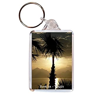 Antalya - Turkey - Double Sided Large Keyring Gift/Present/Souvenir