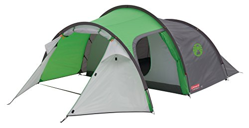 Coleman Tent Cortes 4, 4 man lightweight Dome tent, 4 person Family Camping Tent, 100% waterproof Tunnel Tent with sewn in groundsheet, 1 large bedroom & 1 large storage area 1