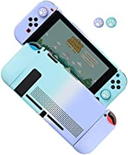 Dockable Case for Nintendo Switch, Protective Cover Case for Nintendo Switch and Joy-Con Controllers (Blue-Pur