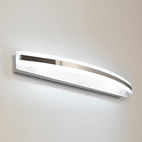 LYNDM Nuovo design moderno 12W 59cm LED Indoor parete lampada luce Banheiro Deco lo specchio del bagno di luce Applique a parete Vanity lampade a luce,Bianco(#JD-1210)