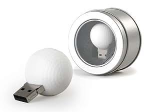CEBEGO USB-Stick Golfball in silberner Metallbox, 2 GB