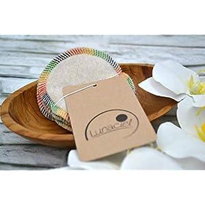 Abschminkpads aus Bio-Baumwolle, waschbar, 10 Stück, Kosmetikpads, wiederverwendbare Wattepads, Gesichtsreinigung, umweltfreundlich, nachhaltig, Zero Waste, natur, Lunaciel