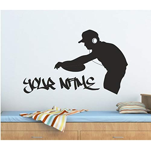 Dxyily Wandaufkleber Personalisierte Graffiti Dj Decks Musik Wandkunst Aufkleber, Aufkleber, Grafik 56X34Cm -