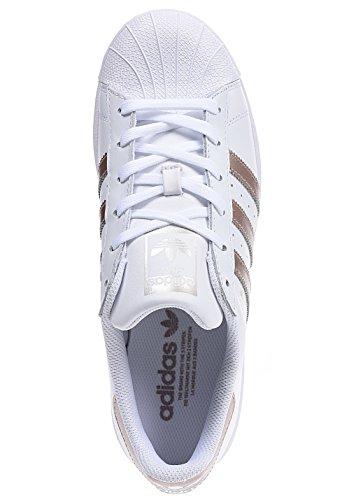 Adidas Superstar Damen Sneaker Weiß - 5