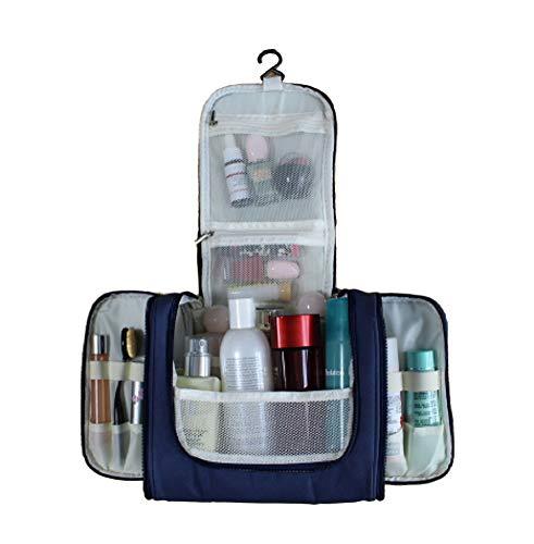 S.R HOME Kulturbeutel Zum Aufhängen für Männer und Frauen, Kulturtaschen, Waschtasche, Reisetasche, Kosmetiktasche groß für Koffer & Handgepäck, Toilettentasche und Waschbeutel. (Blau)