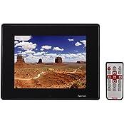 Hama Digitaler Slimline Premium Acryl Bilderrahmen (30,7cm (12,1 Zoll) SD/SDHC/MMC-Kartenslot, USB 2.0,mit Fernbedienung) schwarz