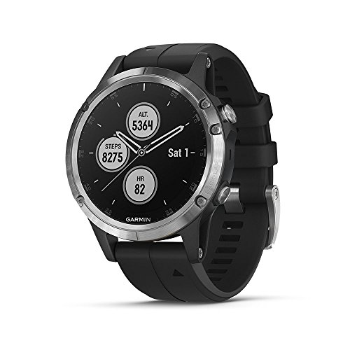 Garmin Reloj GPS multideporte exterior negro (Fenix 5 Plus)