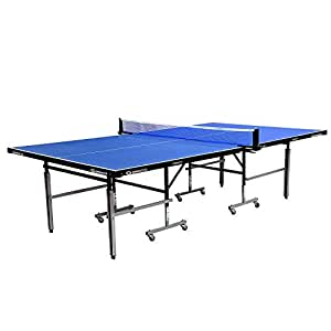 Gymnco Perfect Table Tennis Table With Levellers Top 18 mm ( TT Table Cover + 2 TT Racket & Balls +Yoga Mat )