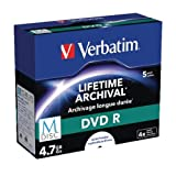 Verbatim DVD-R 4.7GB 4x (5) 43821 Jewel Case MDISC