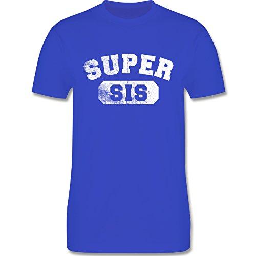 Statement Shirts - Super Sis - Vintage-&Collegestil - Herren Premium T-Shirt Royalblau