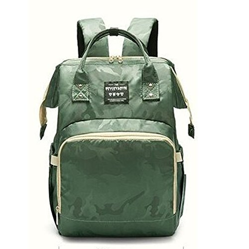 YZRCRKMummy Tasche Mummy Rucksack Fashion Camo Mamabeutel Große Kapazität Mummy Pack Expectant Mutter Out-Paket (Farbe : Camouflage Green) -