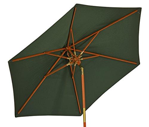 """Großer Sonnenschirm \""""Sunshine\"""" ø 240cm ( 2,4 Meter ) ✓ Grüner Strand-Schirm mit hohem UV-Schutz 50+ ✓ Kippbar ✓ Windauslass ermöglicht stabilen Einsatz als Markt-Schirm, Balkon-Schirm & Garten-Schirm"""