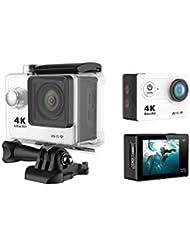 Développez Action Camera WiFi 4K 60fps avec Romete contrôle Ultra HD 170degrés objectif grand angle Mini Sport Casque de vélo Camera 30m étanche Video Cam pour le vélo de vélo plongée Plat LCD Enregistreur de voiture