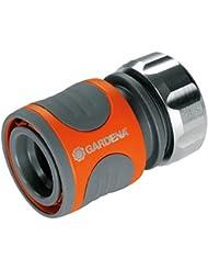 Gardena 816620 Raccord d'arrosage rapide Premium pour tuyau 13 - 15 mm, Orange