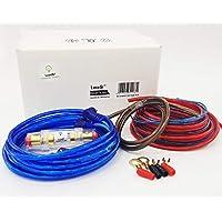 lucesì–Kit Completo de Cables Audio RCA con portafusibles para istallazione Amplificador Cableado Soportes fusibles Subwoofer Fuente de Coche estéreo