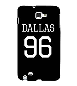 For Samsung Galaxy Note N7000 :: Samsung Galaxy Note I9220 :: Samsung Galaxy Note 1 :: Samsung Galaxy Note Gt-N7000 96, Black, Dallas, Amazing Pattern, Printed Designer Back Case Cover By CHAPLOOS
