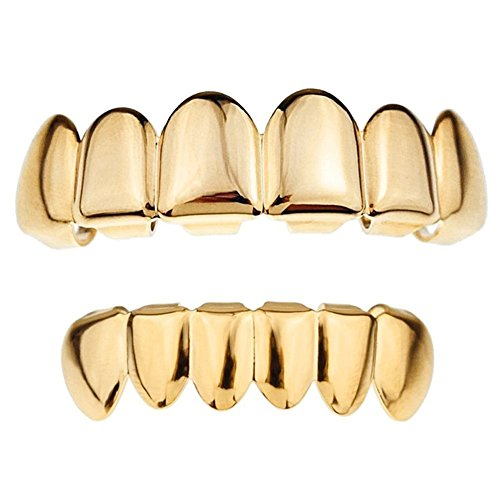 41Ol9OjQhEL - BEST BUY #1 CHIC*MALLGold Grillz 24k Plated Teeth Mouth Grills Bling Hip Hop Style Reviews and price compare uk