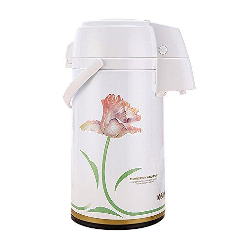 QFFL Uropäische pneumatische Isolierung Topf / Haushalt kreative Wasserkocher / Edelstahl kochendes Wasser Flasche 3L Thermosflasche ( Farbe : C )