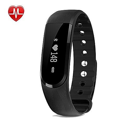 Tracker d'Activité,Willful SW322 Bracelet Connecté Cardiofréquencemétre Bluetooth 4.0 Montre Cardio