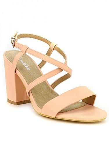 Cendriyon, Sandale rose TOM et EVA MODE Chaussures Femme Rose