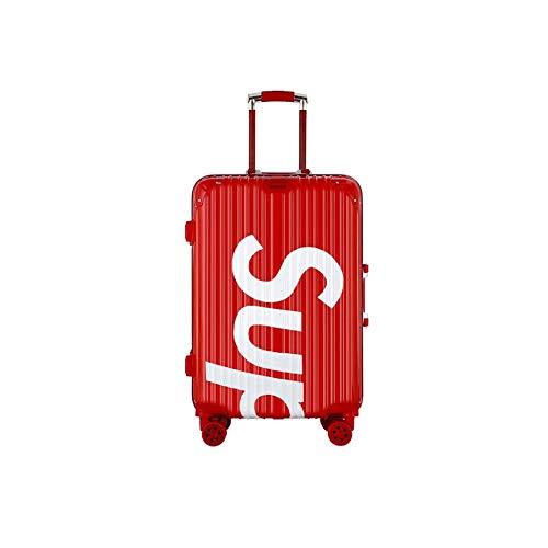 Fryp valigia trolley retro, ruota universale telaio alluminio valigia 24 pollici carta d'imbarco bagaglio 20 valigie-red-24cun