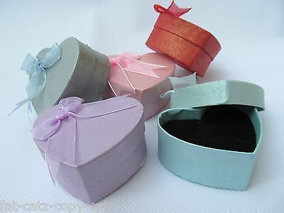 5-x-small-heart-shaped-quality-jewellery-ring-necklace-gift-boxes-padded-insert-pastel-colours-poste