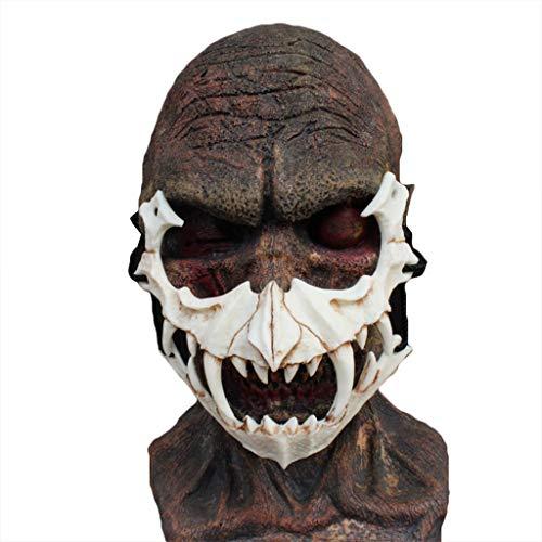ske Drachen Gott Maske Tiger Maske Harz Maske Halloween Teufel Horror Maske Männer Horror Maske Film Scary Maske für Erwachsene Cosplay,E-OneSize ()