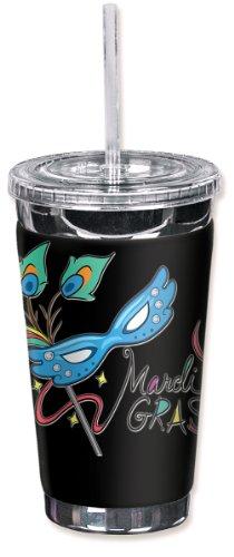 Mugzie® brand 16-Ounce to go bicchiere con Insulated Muta,-Mardi Gras Maschera