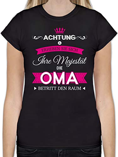 Oma - Ihre Majestät die Oma - XXL - Schwarz - L191 - Tailliertes Tshirt für Damen und Frauen T-Shirt