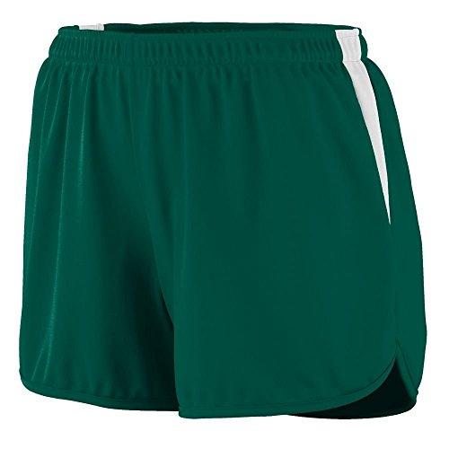 Augusta - Short de sport - Femme Multicolore - Vert foncé/blanc